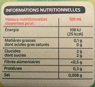 Jus de citron de Sicile - Informations nutritionnelles - fr