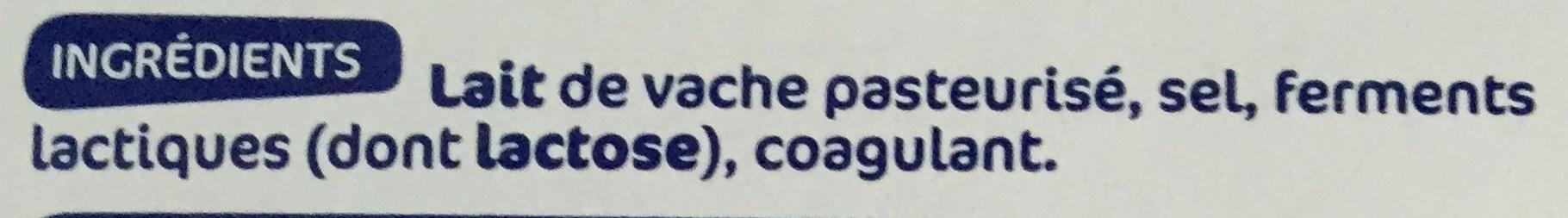 Maasdam tranchettes 29% Mat. Gr. - Ingrediënten - fr
