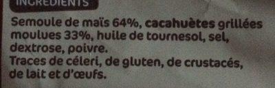 Snacks croustillants cacahuète - Ingrédients