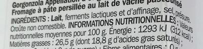 Gorgonzola DOP - Ingrediënten - fr