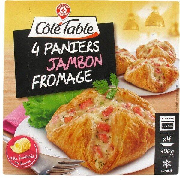 Feuilletés jambon fromage x 4 - Produit - fr