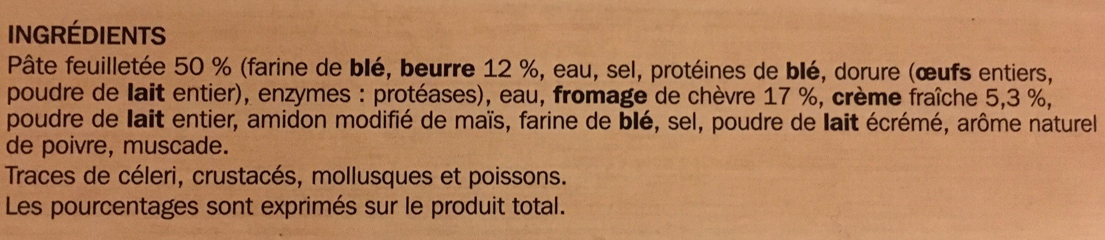 Feuilletés chèvre - Ingrédients
