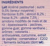 Fromage frais aux fruits 0 % Mat. Gr. 'Délidoux' - Ingrédients - fr