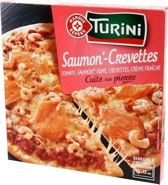 Pizza saumon crevette - Produit - fr