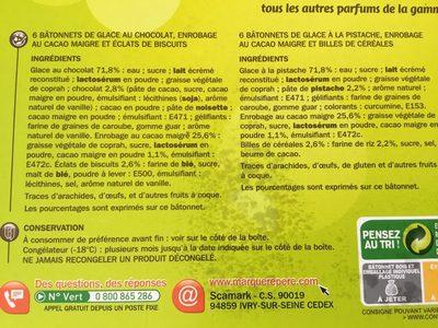 Trofi'bat x 12 ( 6 chocolat / 6 pistache) - Ingrédients