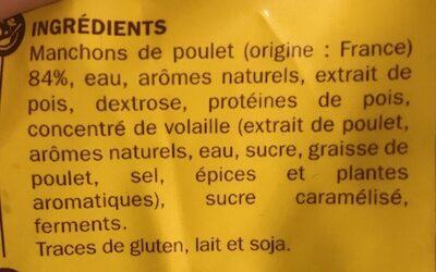 Manchons poulet natures - Ingredients