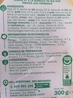Raviolis 4 fromages - Informations nutritionnelles - fr