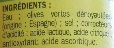 Olives vertes dénoyautées - Ingrédients - fr