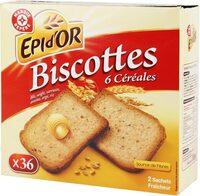 Biscottes aux 6 céréales x 36 - Product - fr
