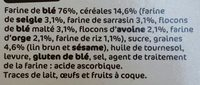Biscottes aux 6 céréales x 36 - Ingredients - fr