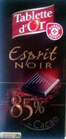 Esprit Noir 85% de Cacao - Produit