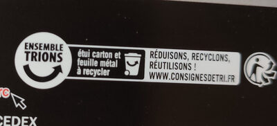 Chocolat noir 85% cacao - Recycling instructions and/or packaging information