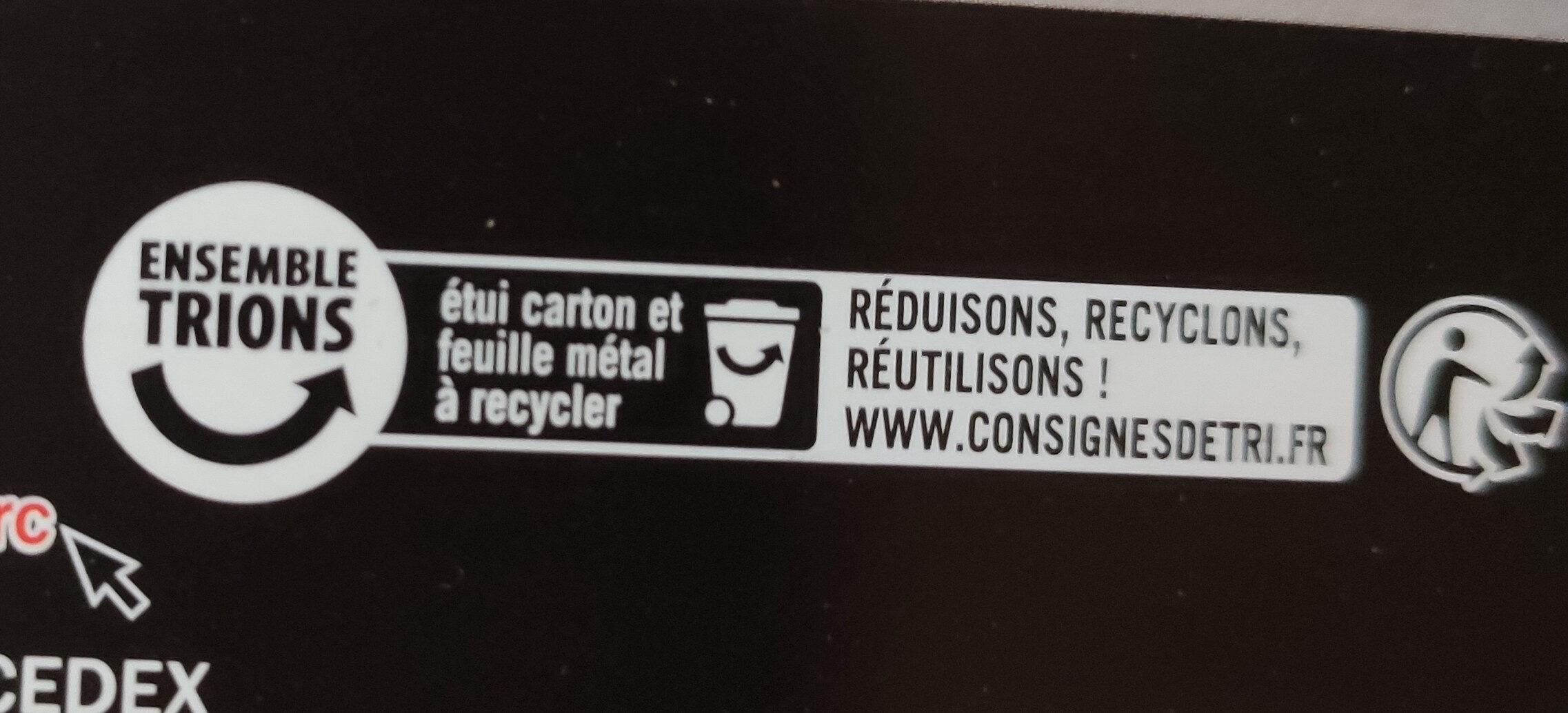Chocolat noir 85% cacao - Instruction de recyclage et/ou informations d'emballage - fr