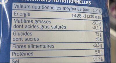 Gélifiés frites - Informations nutritionnelles - fr