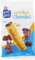 Crêpes fourrées chocolat x 8 - Produit - fr