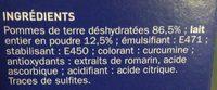 Purée au lait - Ingredients - fr