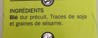 Blé saveur cuisson rapide - Ingredients - fr