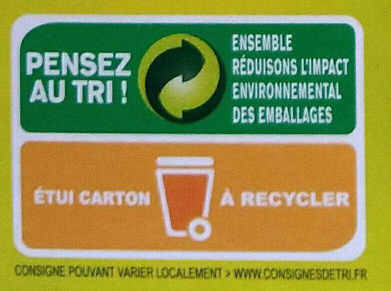 Blé saveur cuisson rapide - Recycling instructions and/or packaging information - fr