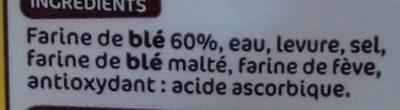 Demi baguettes précuites nature - Ingredients