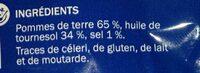 Chips natures craquantes ondulées - Ingrédients - fr