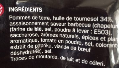 Chips saveur barbecue - Ingrédients - fr