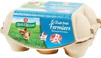 Oeufs fermiers label rouge x 6 - Product - fr