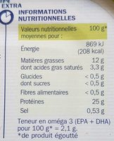 Sardines à l'huile d'olive - Nutrition facts - fr
