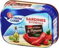 Sardines hui olive/piment 1/5 - Product - fr