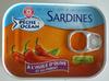 Sardines à l'huile d'olive et au piment - Produit