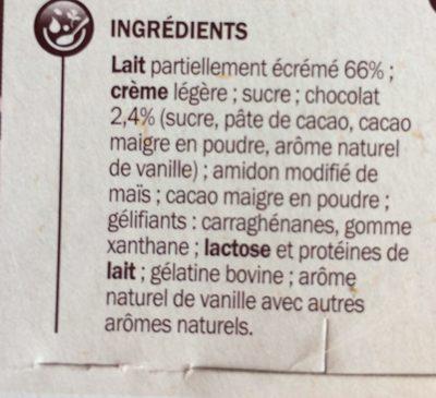 Liégeois chocolat x 4 - Ingrediënten - fr