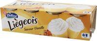 Dessert lacté vanille caramel liégeois - Product