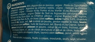 Coquilles Saint-Jacques à la crème fraîche - Ingrediënten - fr