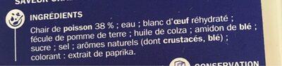 Batonnets savoureux boite - Ingrédients - fr