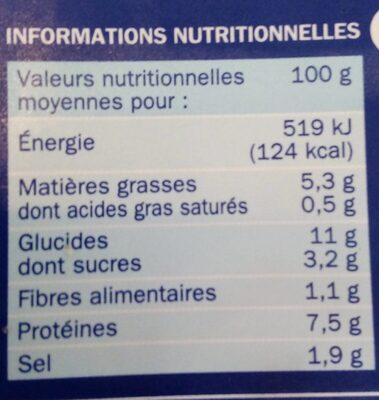 Batonnets savoureux boite - Informations nutritionnelles - fr