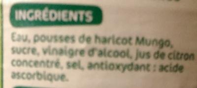 Pousses de soja - Ingredients - fr