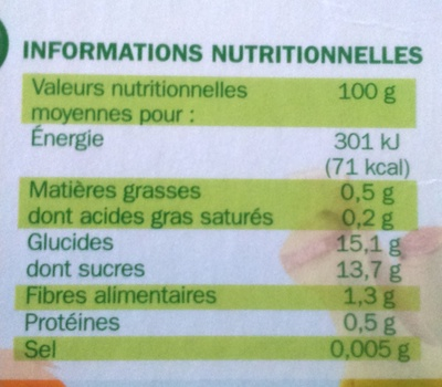 Compote gourde pom banane all 4*40g - Nutrition facts - fr