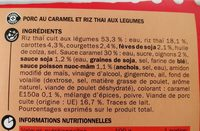 Porc au caramel et son riz thaï - Ingrediënten - fr