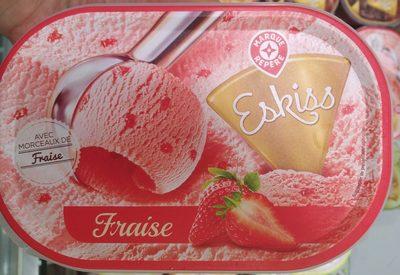 Crème Glacée Fraise avec Morceaux de Fraise - Product
