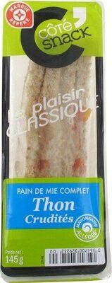 Sandwich thon-crudités - Produit - fr