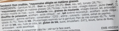 Sandwich thon-crudités - Ingrédients - fr