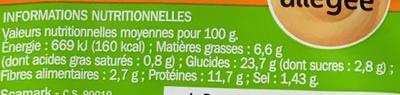Sandwich club poulet rôti mayonnaise allégée - Voedingswaarden - fr