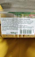 Taboulé à l'orientale - Ingredients