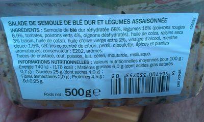 Taboulé à l'orientale - Nutrition facts