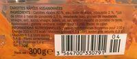Salade carottes rapées - Informations nutritionnelles - fr