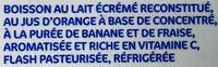 Méléo orange banane fraise - Ingrediënten - fr