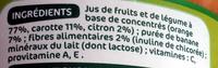 Jus Orange Carotte banane - Ingredients