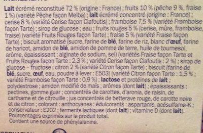 Deli'light patissiers 0% - Ingredients - fr