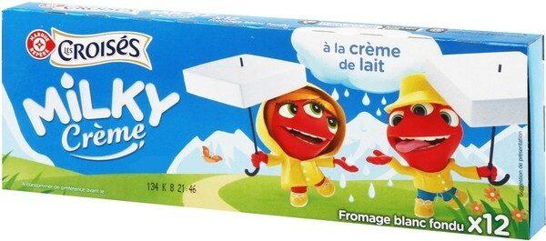 Fromage blanc fondu à la crème 31,4% Mat. Gr. 12 portions - Product - fr