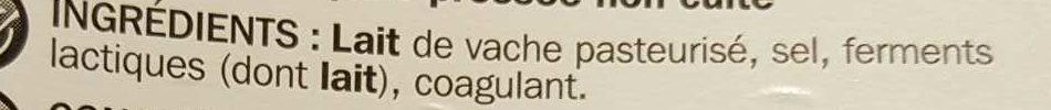 Gouda tranchettes 30,2%MG - Ingrediënten - fr