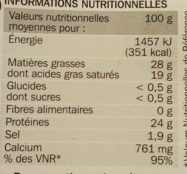Gouda tranchettes 30,2%MG - Voedingswaarden - fr